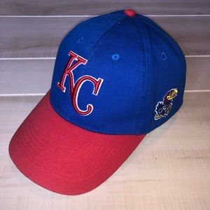 KC KU Kansas City Jayhawks Royals Hat